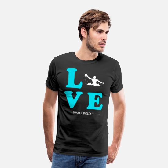 Water Sports T-Shirts - WATER POLO LOVE - Men's Premium T-Shirt black