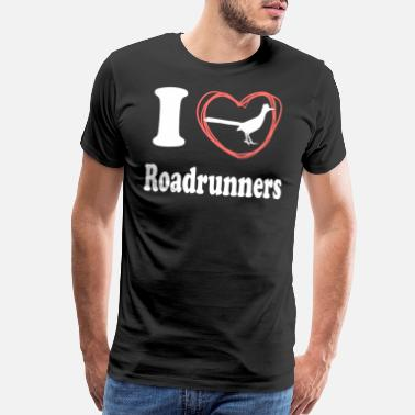 Animal Print I Love Roadrunners - Men's Premium T-Shirt