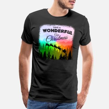 Gay Equality Have a Wonderful Gay Christmas LGBT - Men's Premium T-Shirt