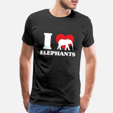 Trunk Elephant heat flock water family - Men's Premium T-Shirt