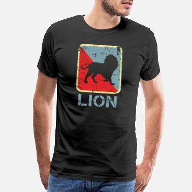 Lions Head Lion Alpha Fluffy pack - Men's Premium T-Shirt