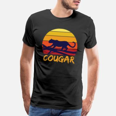 Big Cat Cougar tooth black jungle - Men's Premium T-Shirt