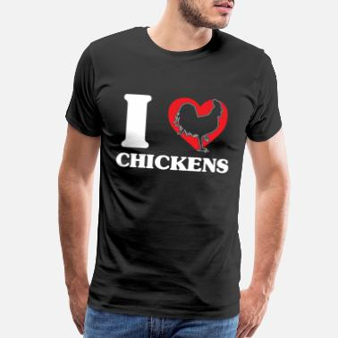 Chicken Wing Chicken chicken hay zoo farmer - Men's Premium T-Shirt