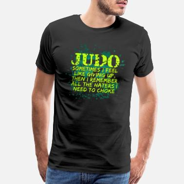 Art Club Judo Judoka Academy Master Black Belt Gift - Men's Premium T-Shirt