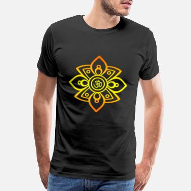 Buddhism Buddha Yoga Om flower - Men's Premium T-Shirt