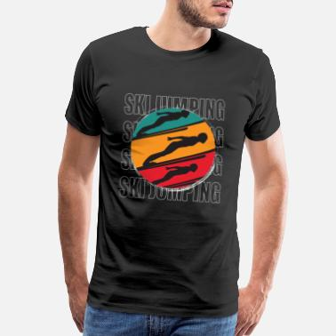 Ski Jumping Ski Jumping Retro - Men's Premium T-Shirt