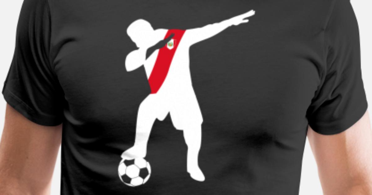 7f23df3794a Peru soccer player dabbing T-shirt Men s Premium T-Shirt