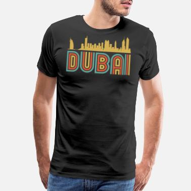Dubai Vintage Style Dubai United Arab Emirates Skyline - Men's Premium T-Shirt