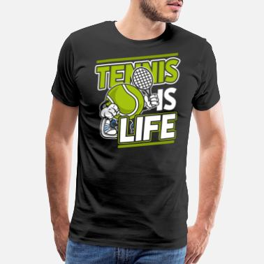 Tennis Racket Tennis gift sport racket ball training friends - Men's Premium T-Shirt