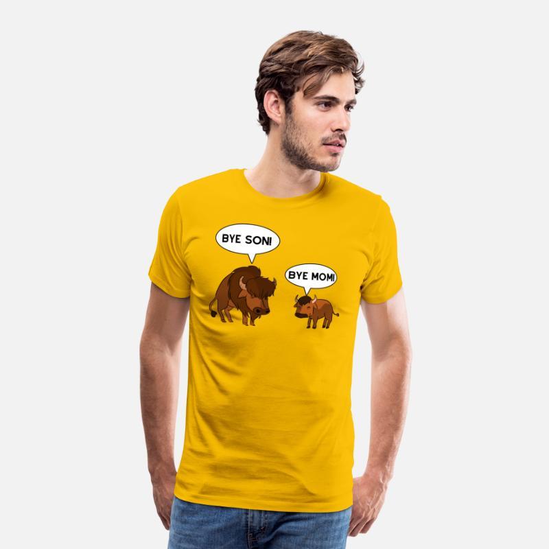 f7e884357b Funny Bison Buffolo Mom Son Buffalo gift Men's Premium T-Shirt   Spreadshirt