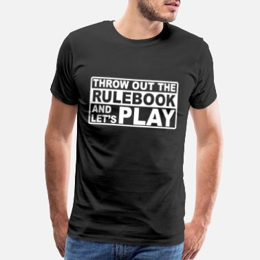 Gothic throw out the rulebook - Men's Premium T-Shirt