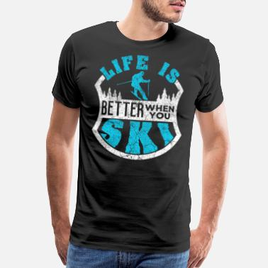 Well Skiing - Men's Premium T-Shirt