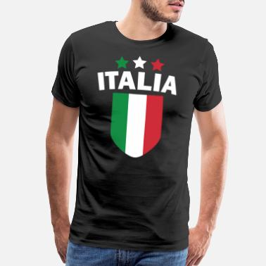 Land Italy Italian Flag Land Nation Patriot Funny - Men's Premium T-Shirt