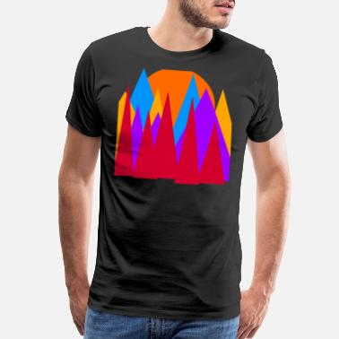 Simplistic Sunset mountains - Men's Premium T-Shirt