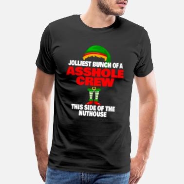 Bunch Jolliest Bunch of Assholes Funny Christmas T SHIRT - Men's Premium T-Shirt