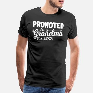 6b20f4fb Promoted To Grandma Funny New Grandma Shirt Promoted To Grandma Est 20 -  Men's Premium T
