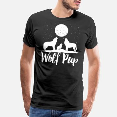 Wolf Pack Wolf Pup Shirt Mama Papa Forest Wolf Pack Family o - Men's Premium T-Shirt