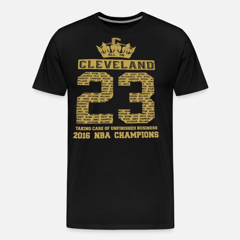 official photos c72ec 94a63 2016 Nba Champions Cleveland Cavaliers Team Jersey Men's Premium T-Shirt -  noble brown