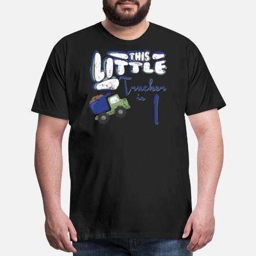 Little Trucker 1st Birthday Shirt Girl Boy Kids Party