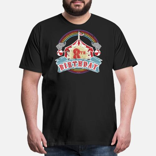 Circus Carnival Theme 8th Birthday Party Kids Shirt By KentuckyGirlTeez