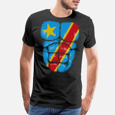 Congo Congo flag Hulk muscles - Men's Premium T-Shirt