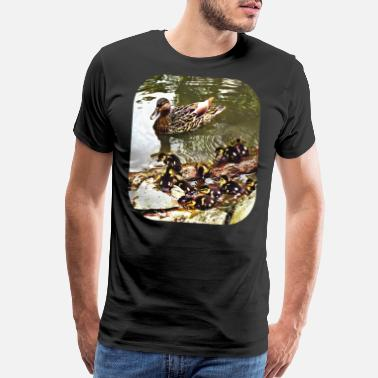 Ducks Pond Duck Family - Men's Premium T-Shirt