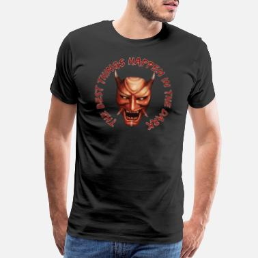 Lazy Hannya Mask - Men's Premium T-Shirt