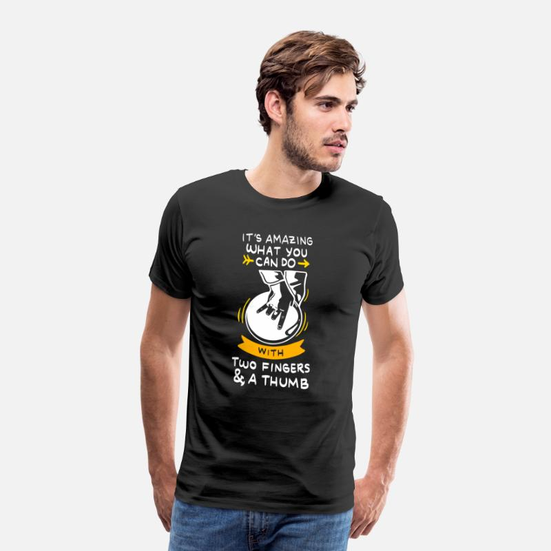 Funny T-Shirts - bowling funny quotes - Men's Premium T-Shirt black