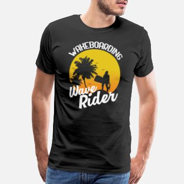 Wave Rider Wakeboarding Wave Rider - Men's Premium T-Shirt