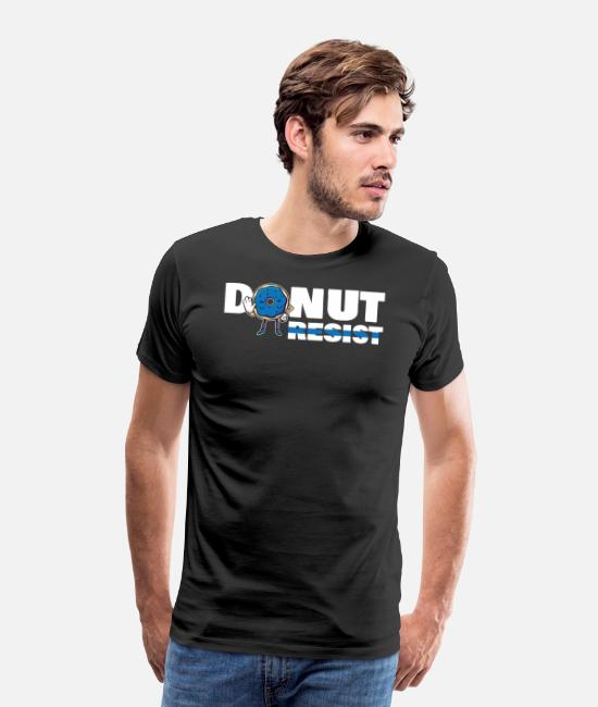 Office T-Shirts - Donut Resist Sheriff American Hero Cop For A - Men's Premium T-Shirt black