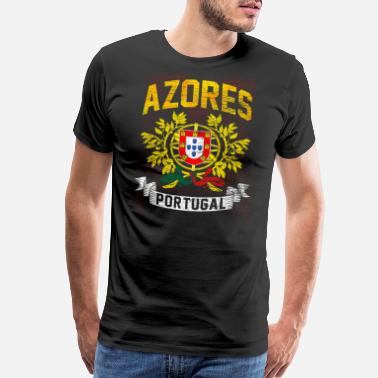 Portugal Portuguese Flag Soccer Gift Nationality - Men's Premium T-Shirt