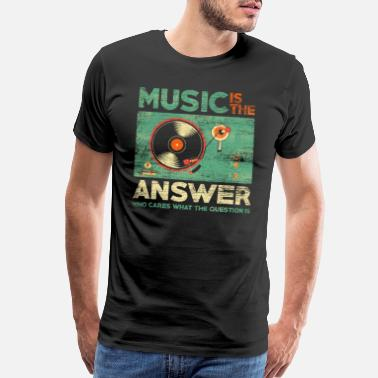 If You Life Had A Face Music Is The Answer - Men's Premium T-Shirt