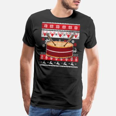 Fade Drum Ugly Christmas Sweater - Men's Premium T-Shirt