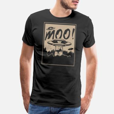 Moo Moo Cow Ufo - Men's Premium T-Shirt