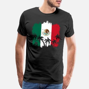 Mexican Independence Mexico Tropical Flag - Men's Premium T-Shirt