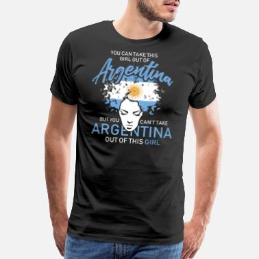 One Love Soccer You Can Take This Girl Out Of Argentina - Men's Premium T-Shirt