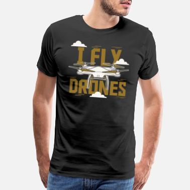 Surveys I Fly Drone - Men's Premium T-Shirt