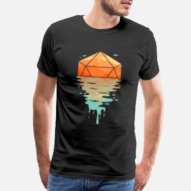 Key Of Life Rippling d20 - D&D Dungeons and dragons dnd - Men's Premium T-Shirt
