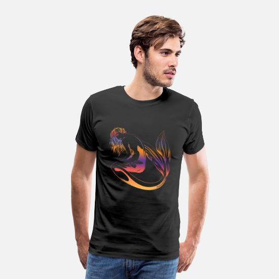 Fantasy T-Shirts - Mermaid Fantasy Ocean Vintage - Men's Premium T-Shirt black