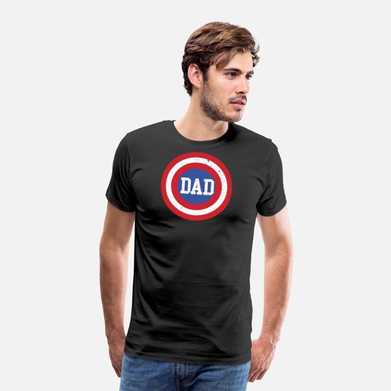 a17c994f Super Dad T-Shirt Funny Superhero Father's Day Tee Men's Premium T ...