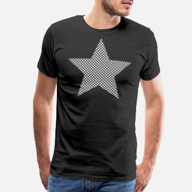 Big Stars White stars in star shape - Men's Premium T-Shirt