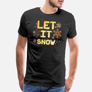 Mistletoe Let it snow - Men's Premium T-Shirt