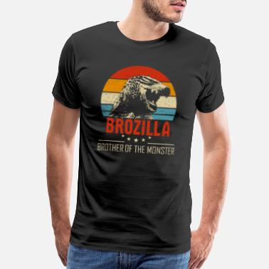 Dino Brozilla Brother of The Monster Hilarious Dinosaur - Men's Premium T-Shirt