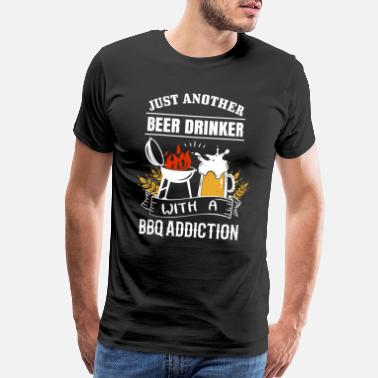 Bbq Supply BBQ Barbecue Beer - Men's Premium T-Shirt