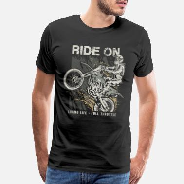 Yamaha Motocross Ride On Dirt Bike - Men's Premium T-Shirt