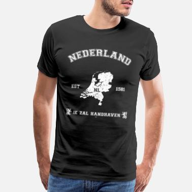 Netherlands Netherlands vintage map - Men's Premium T-Shirt