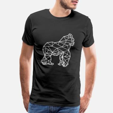 Forest Dweller Gorilla - Modern Line Art - Men's Premium T-Shirt