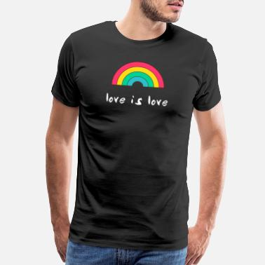 Community Gay rainbow flag pride gaypride homosexual support - Men's Premium T-Shirt