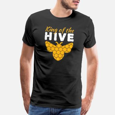 94e9394d Beekeeper King Of The Hive Bee Beekeeper Honey Insect Gift - Men's Premium T -Shirt
