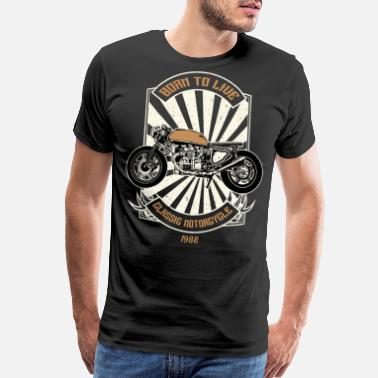 Motorcycle Gears Born To Ride - Classic Motorcycle - Men's Premium T-Shirt